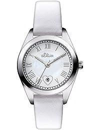 s.Oliver Damen-Armbanduhr XS Analog Quarz Leder SO-2973-LQ