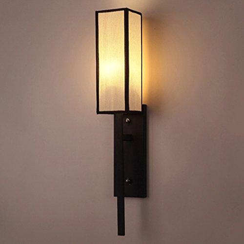 Chambre à coucher moderne Lampe de chevet Couloir d'allée Salon Creative Square Fabric Simple Balcon Escalier Applique