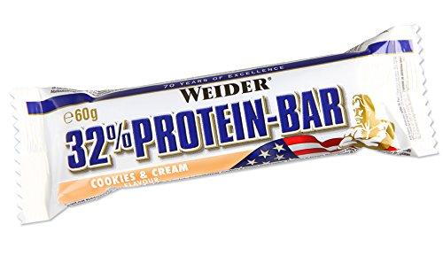 Weider 32% proteine bar, coockies&cream