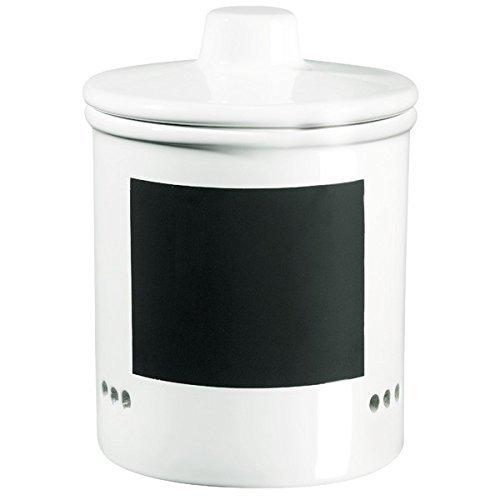 ASA Zwiebeltopf, Keramik, weiß/schwarz, 14x14x15 cm