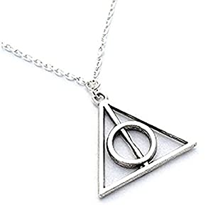 Harry Potter: Silver Deathly Hallows Necklace