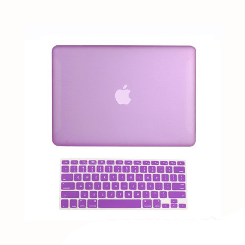 Topideal 2 in 1 Matte Frosted Hard Shell Case Cover for 13-inch White Unibody MacBook 13