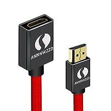 linrui HDMI HDMI macho a hembra de extensión de cable extensor plomo apoyo 4K 3d hdr para Nintendo Interruptor, Stick de TV, Chromecast, Roku, Oculus Rift, PC, ordenador portátil, Xbox, PS3/4, montaje en pared HDTV, etc.
