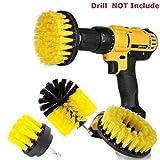 mioim 3 PC Reinigungsbürste Scrubber Reinigung Drill Brush Kit Bohrmaschine Bürstenaufsatz für Boden, Badewanne, Fliesen, Ecken, Küche (2, 3.5,4inch)