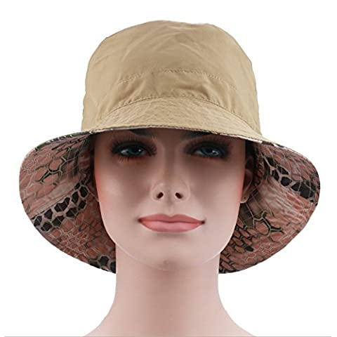 Ezyoutdoor Women's Summer UPF 50+ Quick-dry Reversible Double Side Colorful Pattern Sun Hat Reversible Bucket Hat for Hiking Camping Running Traveling