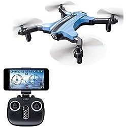 Drones avec Camera HD MINI Drone Pliant Quadcopter, Maintien de l'Altitude, Conception de Vitesse Haut-Moyen-Bas à 3 Niveaux, 360 Degrés, Mode Sans Tête