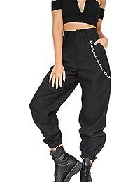 Mujer Pantalones De Cintura Alta Tiempo Fashion Pantalon Libre Deporte  Elegantes Único Anchas Festivo Streetwear Hip 4bfa0a2ca2a