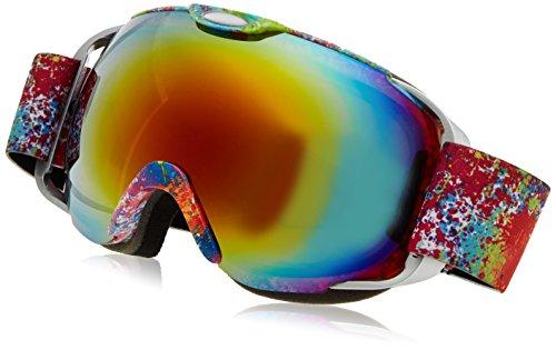 Professionale anti-nebbia anti-vento a doppio strato lente di protezione uv occhiali da sci snowboard skate, unisex chiarezza visione sci occhiali (fiore)