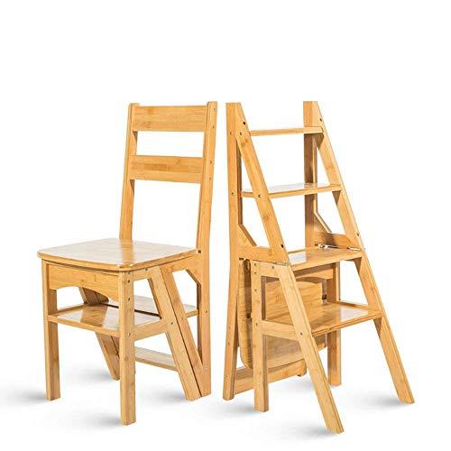 fu matten treppenstufen QTQZ Brisk- Multifunktions-Haus Tritthocker Massivholz Klapp Kind Stuhl Zwei bis Vier Schritte Flut des Kopfes (Farbe: SZLIG weiß)