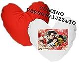 CUSCINO PERSONALIZZATO SAN VALENTINO IDEA REGALO FOTO FOTOGRAFIA TESTO LOGO COMPLETO FEDERA E...