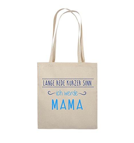 Natural Royalblau Sinn Mama Bags kurzer werde ich Farbe Hellblau Henkel lange Neongrün Lange 38x42cm Comedy Rede Weiss Jutebeutel Schwarz qaCwx1Tq