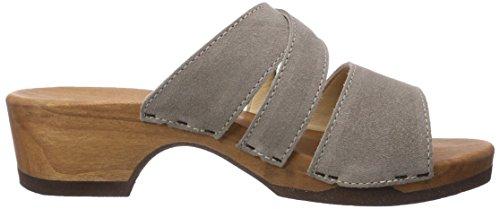 Woody Eva, Chaussures de Claquettes femme Gris - Taupe