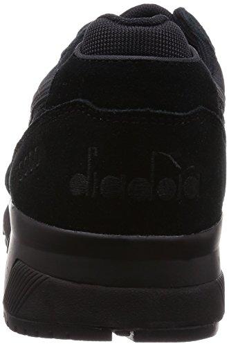 Diadora N9000 Nyl, Pompes à plateforme plate mixte adulte Noir
