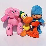 MINX 4 unids / Lote Pocoyo Elly Duck Loula Pocoyo Perro Pato Elefante Juguetes de Peluche Buen Regalo para los niños