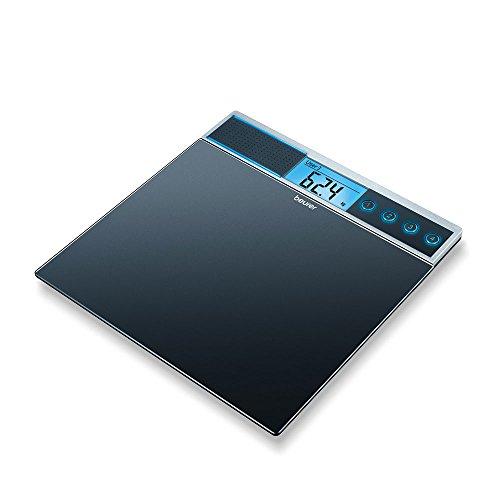 Graduación:100 g, Peso máximo:150 kg, Características de la balanza:Función de memoria, diseño en cristal, tecnología Vibration-on, cambio de selección de unidades de medida, Profundidad:35 cm, Anchura:34 cm, Tipo de control:Electrónico, Tipo de pan...