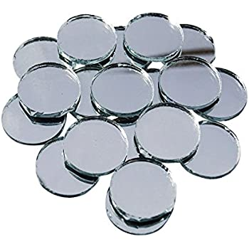 Mini round small glass mirror circles for arts crafts for Small round craft mirrors