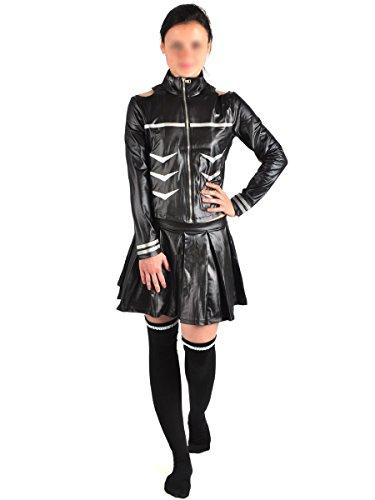 CoolChange Hochwertiger Tokyo Ghoul Kampfanzug von Ken Kaneki in Lackleder Optik, Frauen Version, Größe: (Kostüm Kaneki Weibliche)