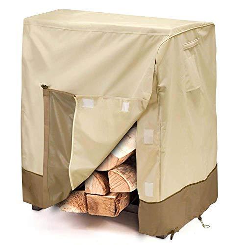 Rziioo Outdoor Patio Firewood Rack Cover - Regenwasser/Sun Armor Shield Holz Rack Protector
