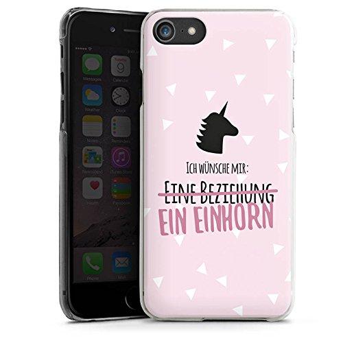 Apple iPhone X Silikon Hülle Case Schutzhülle Statement Einhorn Spruch Hard Case transparent