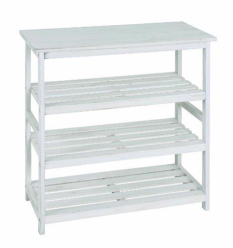 HAKU Möbel 26317 Regal 65 x 32 x 72 cm, weiß gewischt