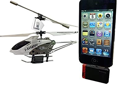 WHITE I-AVIATOR IPHONE IPAD RC CONTROL HELICOPTER 802i