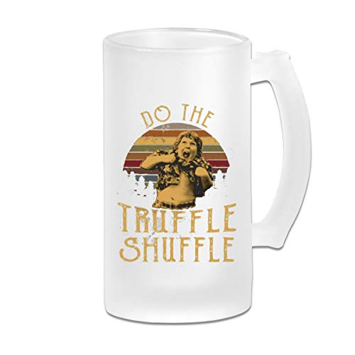 Chunk Do The Truffle Shuffle Frosted Glass Beer Stein Mug Cup