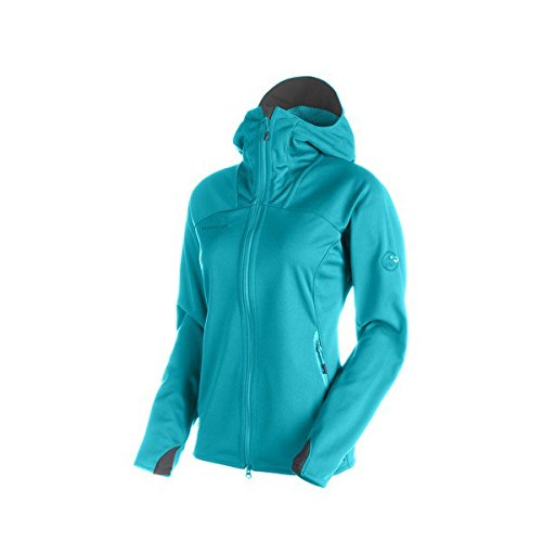 Mammut Ultimate Hoody Women (Softshell Jackets/Vests), color:light pacific-light pacific;size:M