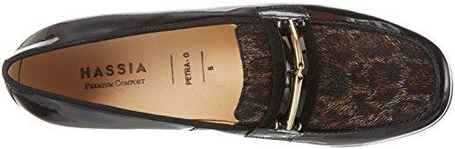 Hassia Petra, Weite G, Mocassins Femme Noir - Schwarz (0120 schwarz/espresso)