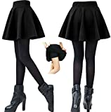 MAGNA Women's Poly Cotton Skater Skirt (Black_Small)