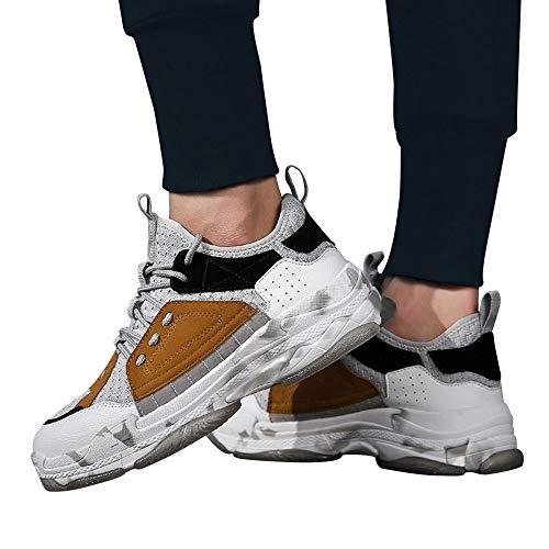 ❤️ Calzado Deportivo de los Hombres Empalme, Moda Zapatos Casuales Tendencia de los Hombres de la Armadura de la Mosca Respirable con ligereza Zapatillas Zapatos de Camuflaje Absolute
