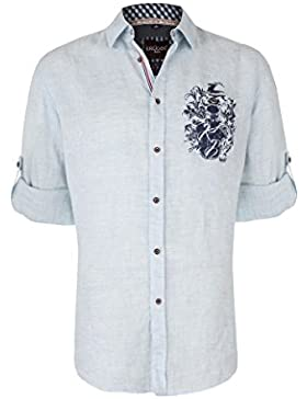 Krüger Herren Trachtenhemd Frederik, hellblau H000077