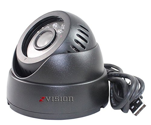 ZVision CCTV Dome 24 IR Night Vision Camera DVR with Memory Card Slot Recording (USB)