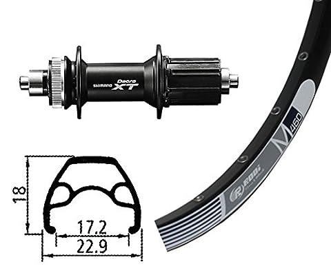 RODI M460 26x1.9 32 t Deore XT Centerlock Roue Arr Noir 2017 roue de vtt