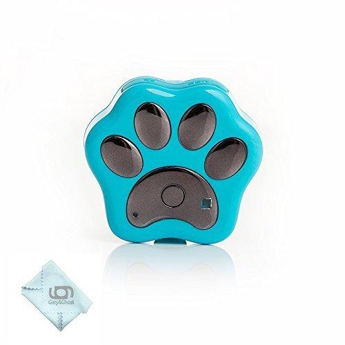 GARY&GHOST WIFI GPS Tracker für Hunde und Katzen, IP66 Wasserdicht mit LED Licht (Blau)