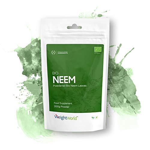 Bio Neem Powder - Precision Blended Heart, Immunity & Detox Powder, Made from Organic Neem Leaves, Vegan and Vegetarian-Friendly, 40 Servings Per Pack, Easy Mix Powder - 200g - by WeightWorld