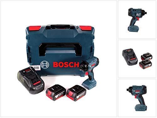 Preisvergleich Produktbild Bosch GDR 18 V-160 Akku Drehschlagschrauber 1 / 4' Innensechskant inkl. L-Boxx + 2x Bosch 3, 0 Ah Akku,  1x Bosch GAL 1880 CV Ladegerät