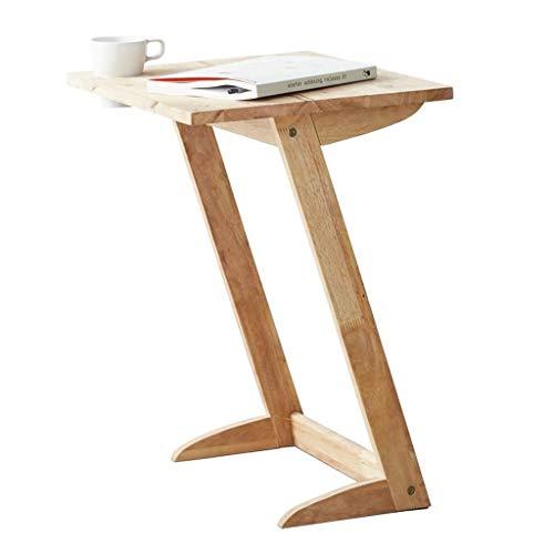L-Life Tische Beistelltische Z-förmiges Massivholz Couchtisch Endtisch Büro, Küche, Wohnzimmer Beistelltisch, 500 * 400 * 610 (MM) - L-förmige Couchtische