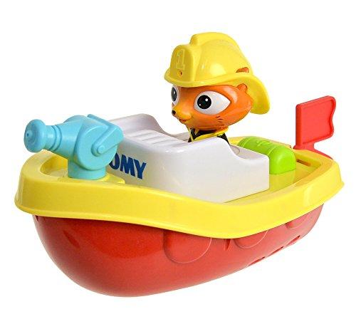 Tomy Wasserspielzeug Ferngesteuertes Feuerwehrboot Mehrfarbig - Hochwertiges Kinderspielzeug - Spielzeug Boot ferngesteuert für Großen Badespaß für Kinder - ab 12 Monate