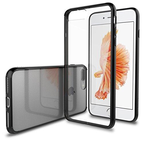 iPhone 7Plus Fall, luvvitt [Clearview] Hybrid kratzfest Rückabdeckung mit Schutzhülle, Bumper für Apple iPhone 7Plus–Crystal Clear schwarz