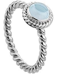 Nenalina212999-098 –Anillo de Mujer de plata de ley 925,hecho a mano, cubierto con piedra preciosa aguamarina Azul