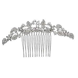 Brautmoden-Blumen-Haar-Stifte Retro Hochzeit Kreative Braut-Combs Caps Haarschmuck Silber