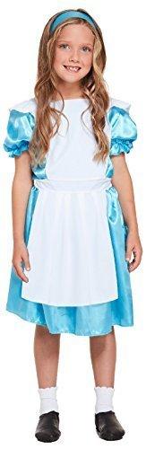 Mädchen klassisch Alice im wunderland Fantasie Welttag des buches-Tage-Woche Lewis Carol Halloween Karneval Kostüm Kleid Outfit - 10-12 Years