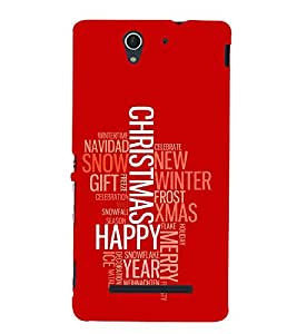 Wishing Happy For Occasion 3D Hard Polycarbonate Designer Back Case Cover for Sony Xperia C3 Dual :: Sony Xperia C3 Dual D2502