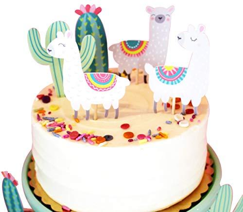 (Tortenaufsatz mit Alpakakaka-Motiv Happy Birthday Twinkle DIY Glitzer 1. Geburtstag Cupcake Topper Cake Smash Candle Alternative Party Handarbeit)