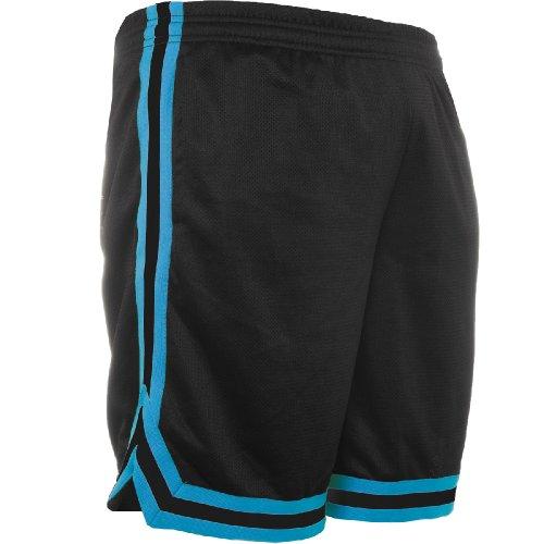 Urban Classics TB243 Herren Shorts Stripes Mesh black/turquoise/black