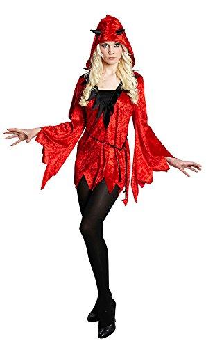 Karneval-Klamotten Teufel Kostüm Damen sexy Teufelin rot schwarz Halloween Damenkostüm (Baby Satan Kostüm)