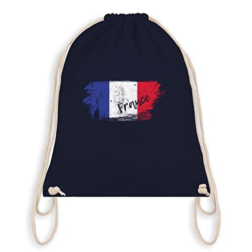 Fußball-Weltmeisterschaft 2018 Kinder - Frankreich Vintage - Unisize - Navy Blau - WM110 - Turnbeutel & Gym Bag