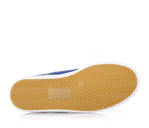 BIKKEMBERGS - Blaue Sneakers mit Schnürsenkel, aus Stoff und Wildleder, Kind, Jungen, Jungs Blau
