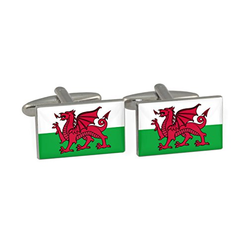 Walisische Flagge Manschettenknöpfe