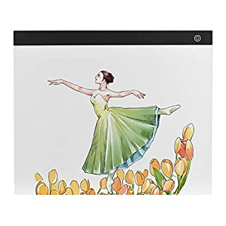 Aibecy A3 Large-Size Light Box Display Pad Drawing Board Stencil Artist Art Tracing Stepless Dimming Eye-Protecting Pad for Tatoo Diamond Painting Sketching Animation